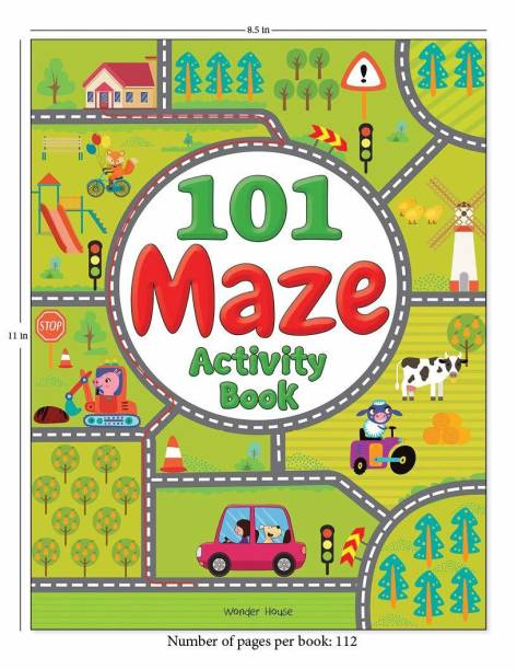 101 Maze Activity Book - By Miss & Chief