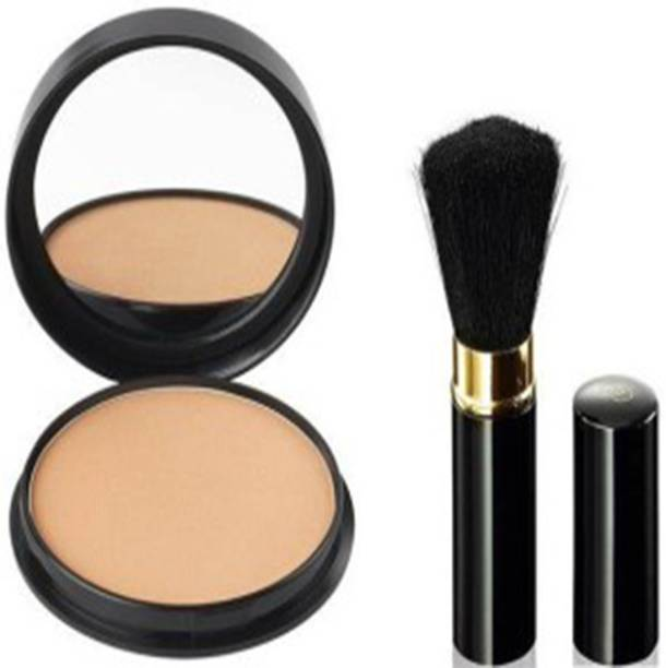 Oriflame Sweden Gold Black Powder brush and Compact Powder Combo Set