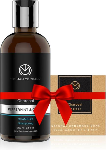 THE MAN COMPANY Anti Pollution Combo (Charcoal Shampoo + Charcoal Soap)