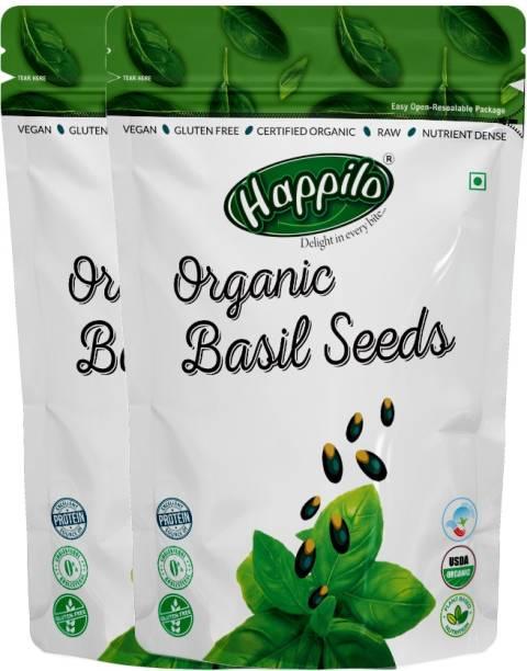 Happilo Premium Raw Organic Holy Basil (Sabja) Seeds
