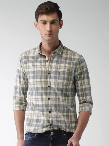 MAST & HARBOUR Men Checkered Casual Multicolor Shirt