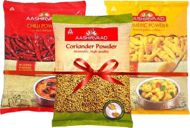 AASHIRVAAD Chilli, Turmeric, Coriander Powder Spices Combo
