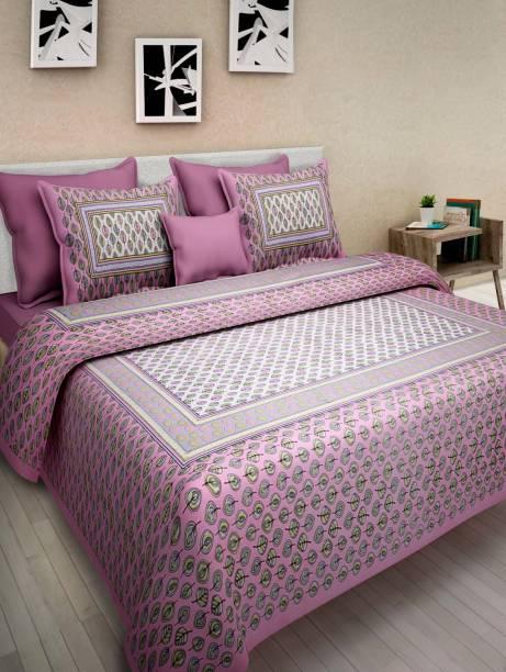 ABHISHEK FASHION 280 TC Cotton Double Printed Bedsheet