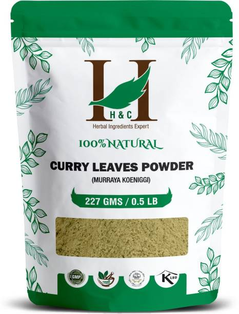 H&C Curry Leaves Powder by Emarketers |100% Natural | for hair care formulation | Hair Growth (227g)