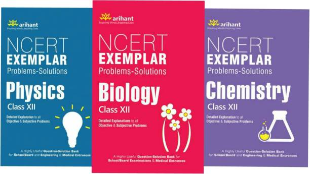 Arihant NCERT Exemplar .A Set Of 3 Books Physics,Chemistry And Biology In Combo Pack For PCB Class 12th Students