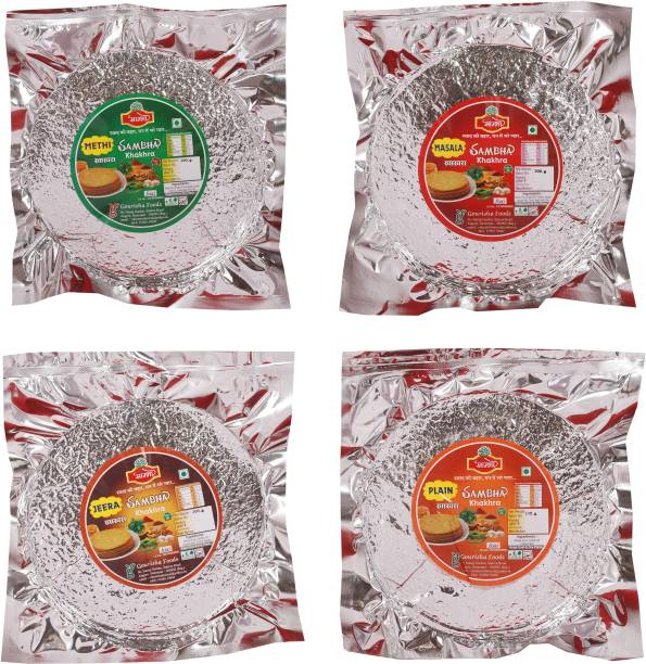 Sambha Roasted Crunchy Methi, Masala, Jeera & Plain- 200 gm Each