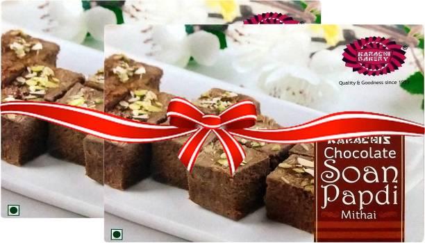 Karachi Bakery Chocolate Soan Papdi Mithai Box