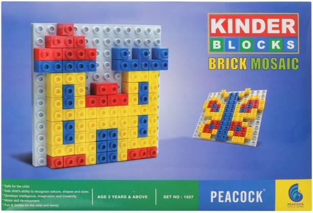 Peacock Kinder Blocks Brick Mosaic by Party Shopping
