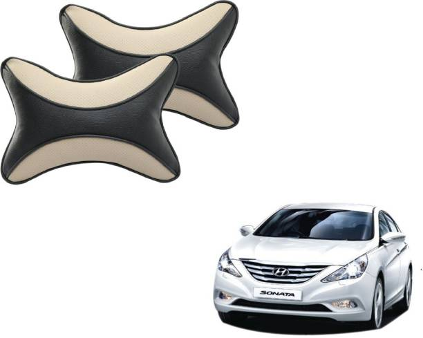 Mockhe Beige, Black Cotton Car Pillow Cushion for Hyundai