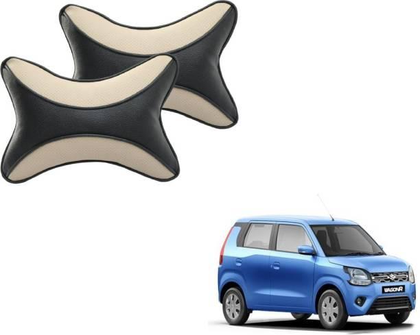 Autyle Beige, Black Cotton Car Pillow Cushion for Maruti Suzuki