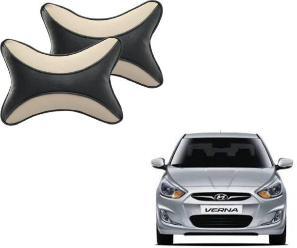 Autyle Beige, Black Cotton Car Pillow Cushion for Hyundai