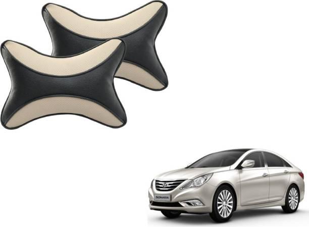 Mockhe Beige, Black Cotton Car Pillow Cushion for Hyundai