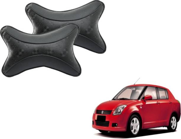Mockhe Black Cotton Car Pillow Cushion for Maruti Suzuki
