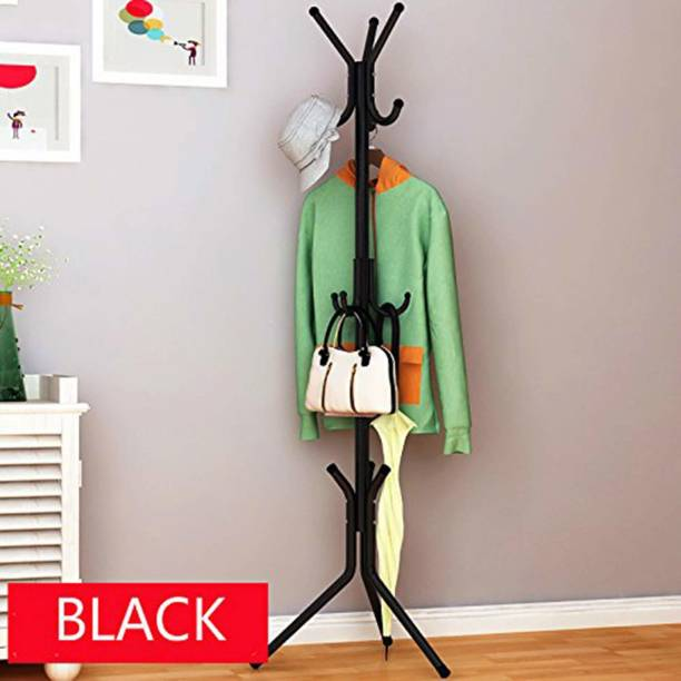 Online World New High Quality Wrought Iron Coat Rack Hanger Creative Fashion Bedroom for Hanging Clothes Shelves, Wrought Iron Racks Standing Coat Rack (Black) Metal Coat and Umbrella Stand