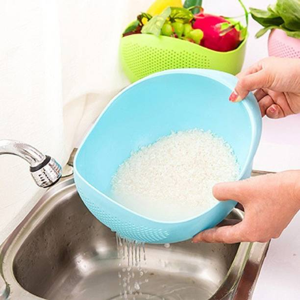 Styleys Rice Pulses Fruits Vegetable Noodles Pasta Washing Bowl Collapsible Colander