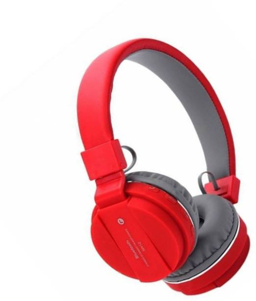 blue seed Wireless Headphone SH-12 with Tf card support function (Red) Bluetooth Headset