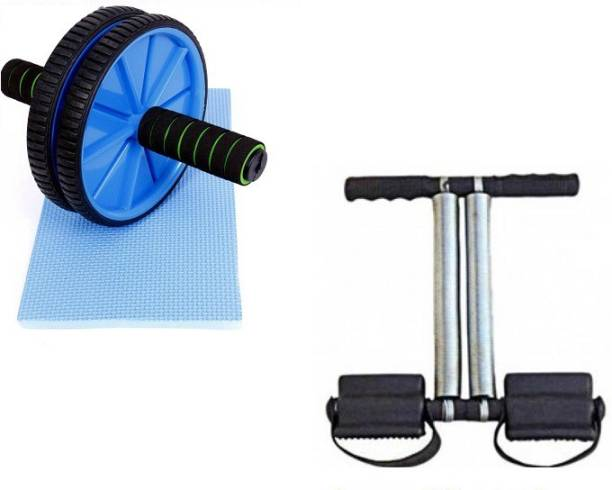 ADONYX AB WHEEL AND TUMMY TRIMMER COMBO FOR FAT CUTTING AND ABDOMINAL MUSCLE BUILDING Home Gym Kit
