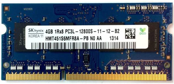 Hynix 1600Mhz low voltage 1.35V DDR3 4 GB Laptop (HMT451S6MFR8A-PB)