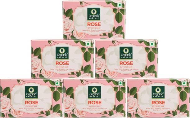Organic Harvest Bathing Bar (Rose, Pack of 6)