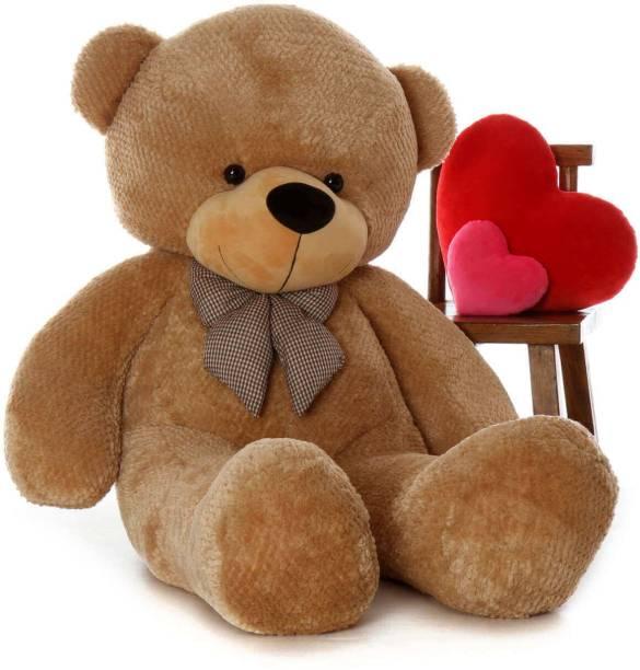 shakshi 4 Feet Very Cute Long Soft Hugable Teddy Bear Best For Gift - 121cm  - 121 cm
