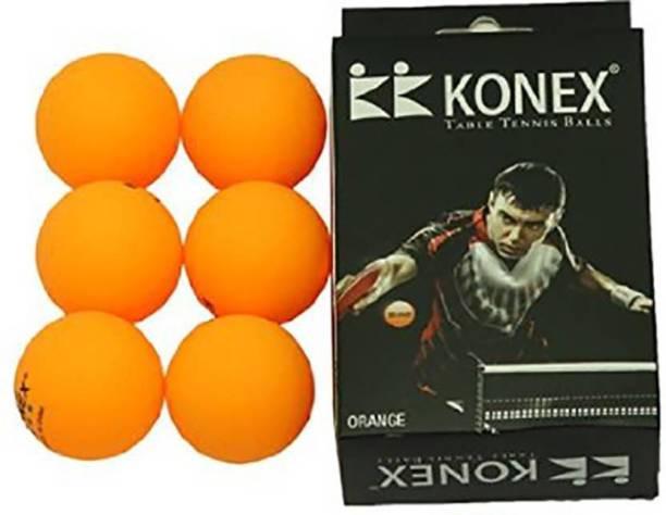 Konex 40 mm Table Tennis Ball (Orange) - Pack of 6 Table Tennis Ball