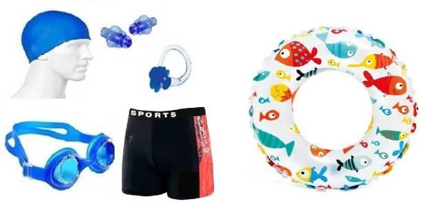 Kamni Sports swimming kit cap ,googles ,ear plugs ,trunks,swimming tube CB-21 Swimming Kit