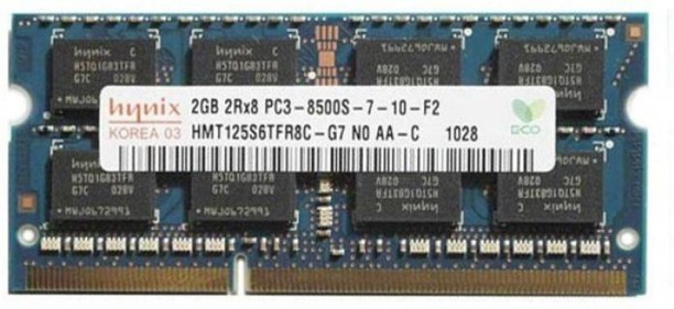 GENUINE Dell Hynix 2GB 2Rx8 PC3 8500S DDR3 Laptop Memory RAM HMT125S6TFR8C-G7