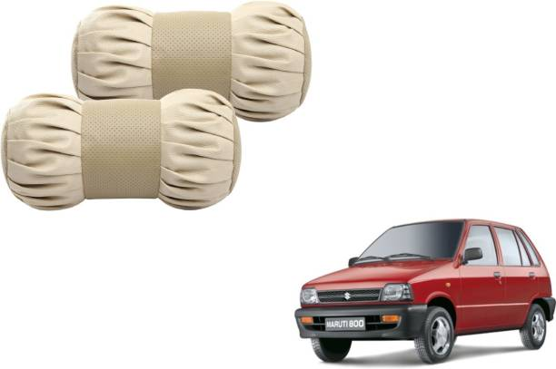Autyle Beige Cotton, Leatherite Car Pillow Cushion for Maruti Suzuki