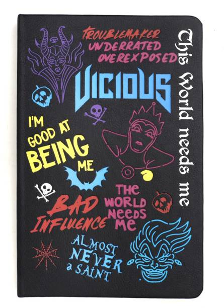 doodle Disney Villain-Montage Hard Bound A5 Notebook Ruled 192 Pages
