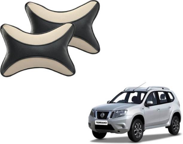 Mockhe Beige, Black Cotton Car Pillow Cushion for Nissan