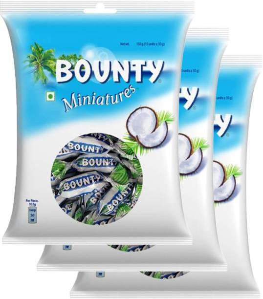BOUNTY Miniatures Coconut Filled Chocolates(150g x 3) Bars