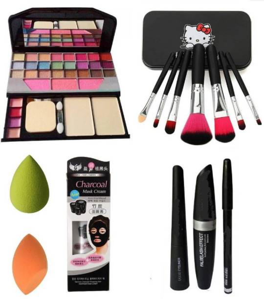 T.Y.A Eye Liner Kajal Mascara & Makeup Kit (Set of 7)