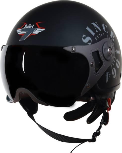Steelbird SB-27 7Wings Tank Open Face Graphic Helmet Motorbike Helmet