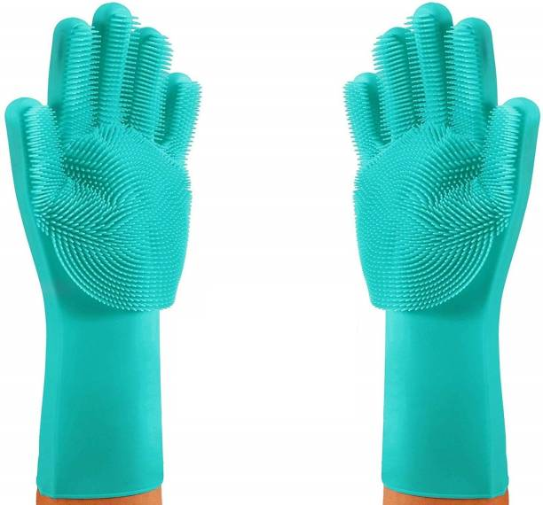 Ada Magic Silicone Gloves Scrubbing Gloves Wet and Dry Glove