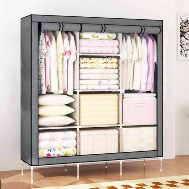 Maison & Cuisine 88130 Grey PP Collapsible Wardrobe