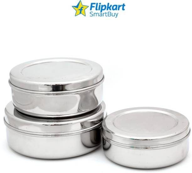 Flipkart SmartBuy Stainless Steel Sleek Chapati Box  - 500 ml, 900 ml, 1200 ml Steel Grocery Container