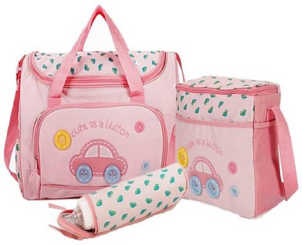 3d1bcea360 Miss & Chief 4 Pcs Nappy Changing Bags Sets -Dark Pink Baby Diaper Bag (