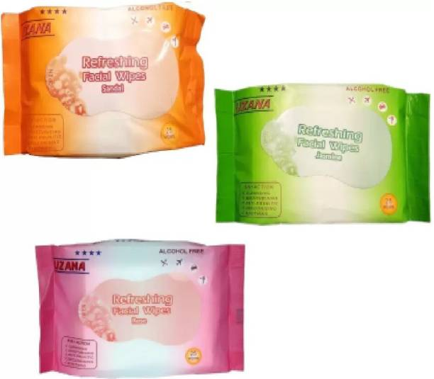 Uzana Tissue Paper Face Cleanser/Cleaning Wipes For Women & Girls-3 in One