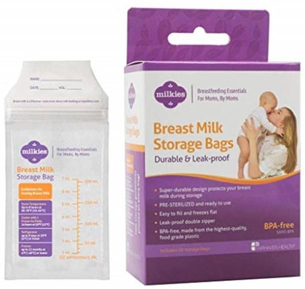 """Milkies No-Break, No-Leak"""" Breast Milk Storage Bags, 50-count, BPA-Free"""