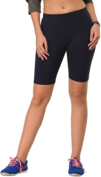 Apraa & Parma Solid Women Black Gym Shorts, Cycling Shorts, Running Shorts, Running Shorts