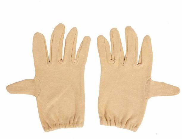 ARY Solid Protective Men & Women Gloves(CREAM) Driving Gloves