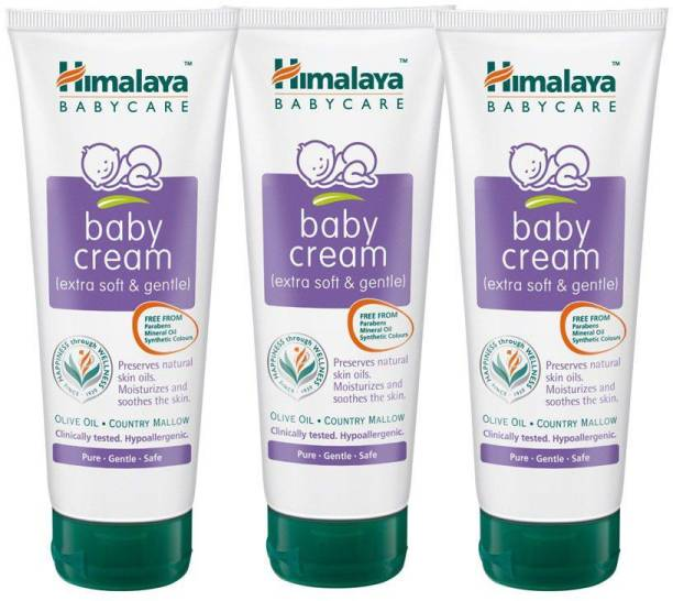 Himalaya Herbals Baby Cream ( Extra Soft & gentle ) Combo Pack. 200ml X 3 = 600ml
