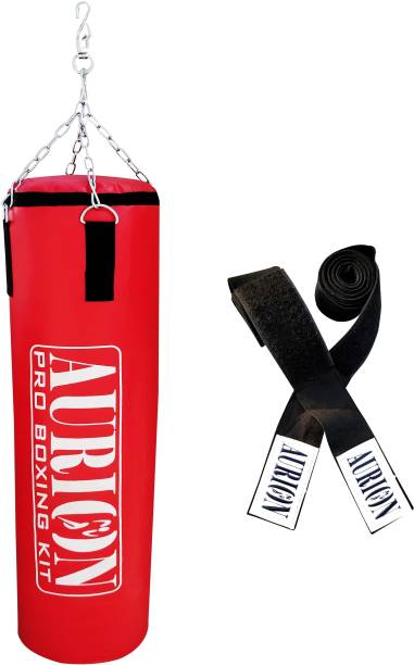 Aurion Unfilled Punching Bag 4 FEET Boxing MMA Training Kickboxing Muay Thai Hanging Bag