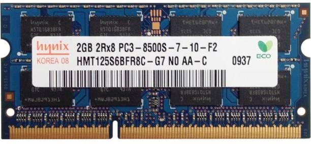 Hynix DDR3 1066Mhz ,1.5V DDR3 2 GB (Dual Channel) Mac, Laptop (HMT125S6BFR8C-G7 PC3 8500S)