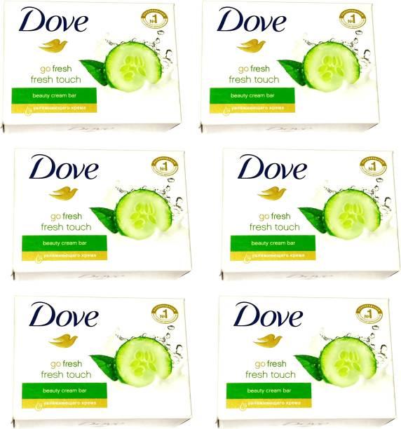 DOVE Imported (Made in Germany) Go Fresh Touch Beauty Cream Bar, 135g each (810 g, Pack of 6) (810 g, Pack of 6)