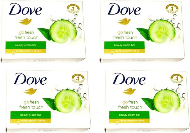 DOVE Imported (Made in Germany) Go Fresh Touch Beauty Cream Bar, 135g each (540 g, Pack of 4) (540 g, Pack of 4)