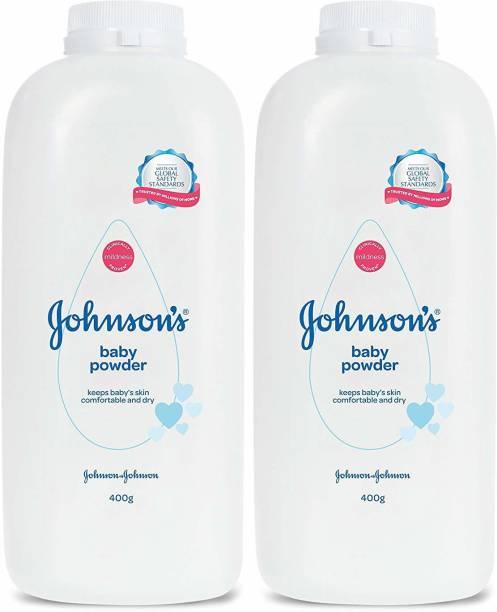 JOHNSON'S Original Baby Powder (400GMX2) Pack of 2