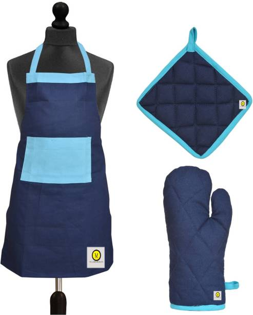 YELLOW WEAVES Cotton Home Use Apron - Free Size
