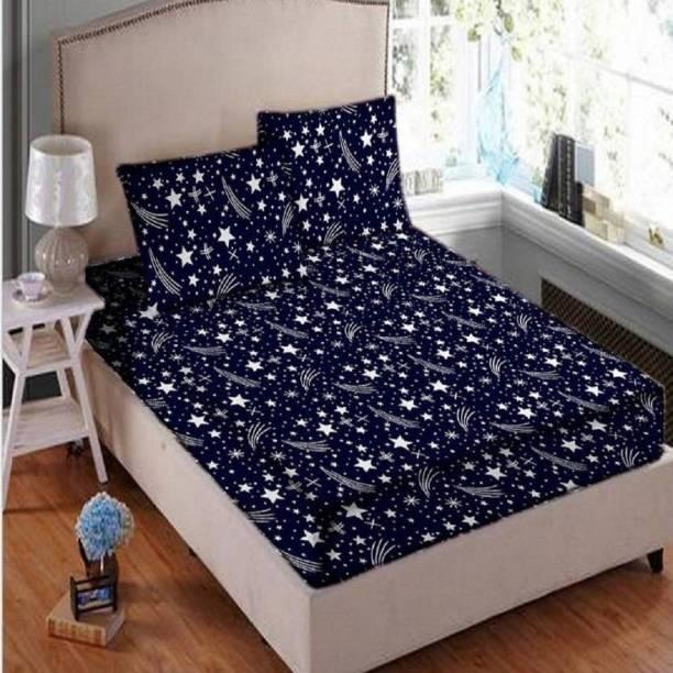 New panipat textile zone 145 TC Polycotton Double 3D Printed Bedsheet