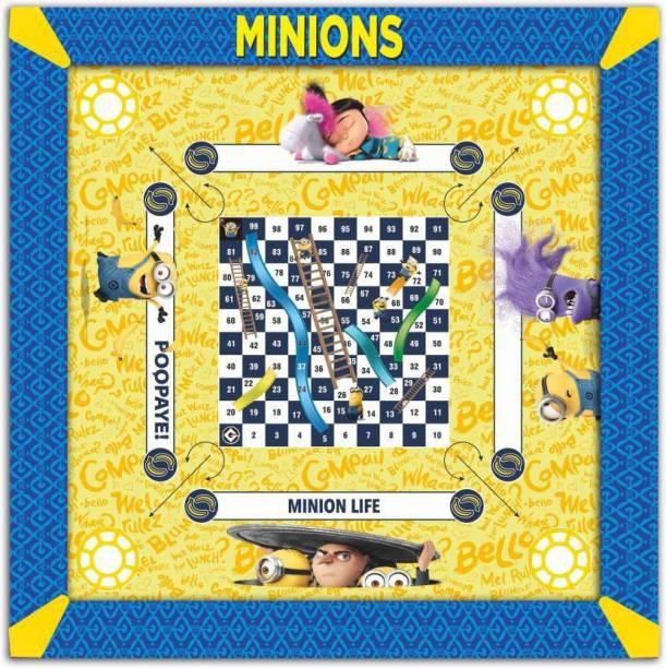 MINIONS Kids Carrom Board (26x26 inch) Carrom Board Board Game